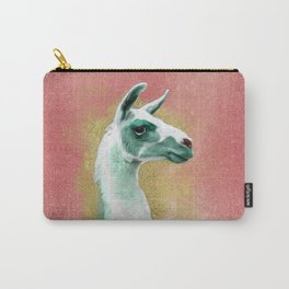Mint Llama Carry-All Pouch
