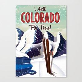 Colorado vintage Ski Travel poster Canvas Print