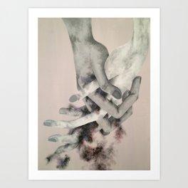 Clasped Hands Art Print