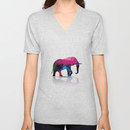 Geometric elephant Unisex V-Neck