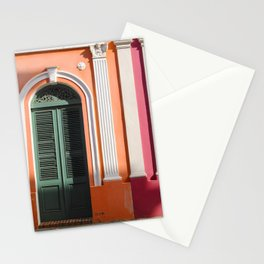 two houses in Puerto Rico Stationery Cards