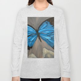 Ulysses Blue Butterfly Long Sleeve T-shirt