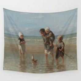 Children of the Sea, Jozef Israëls (1872) Wall Tapestry