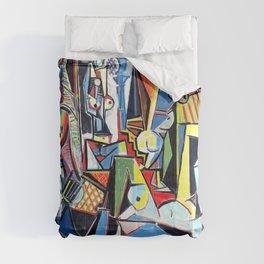 Pablo Picasso - Les Femmes d'Alger (Women of Algiers) 1955 Artwork Comforters