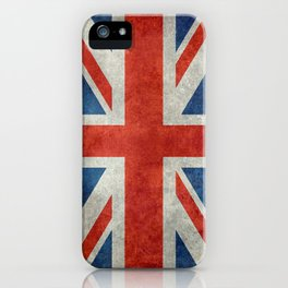 "UK Union Jack flag ""Bright"" retro grungy style iPhone Case"
