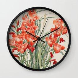 Charles Demuth - Red Gladioli Wall Clock