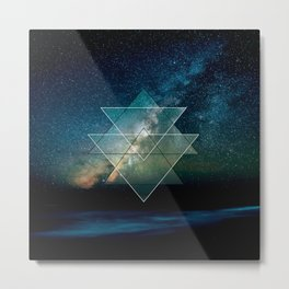 Starlight Geometry Metal Print