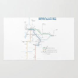 Twin Cities METRO System Map Rug