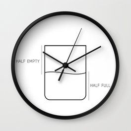half full or half empty Wall Clock