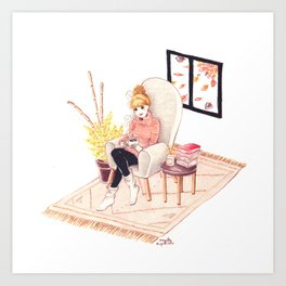 Cocooning Art Print
