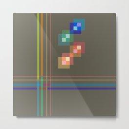 Squares and Lines Metal Print