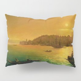 View of Constantinople by Moonlight by Ivan Aivazovsky Pillow Sham