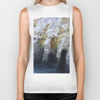 san diego Biker Tanks featuring Cliffs of San Diego by Tdrisk46