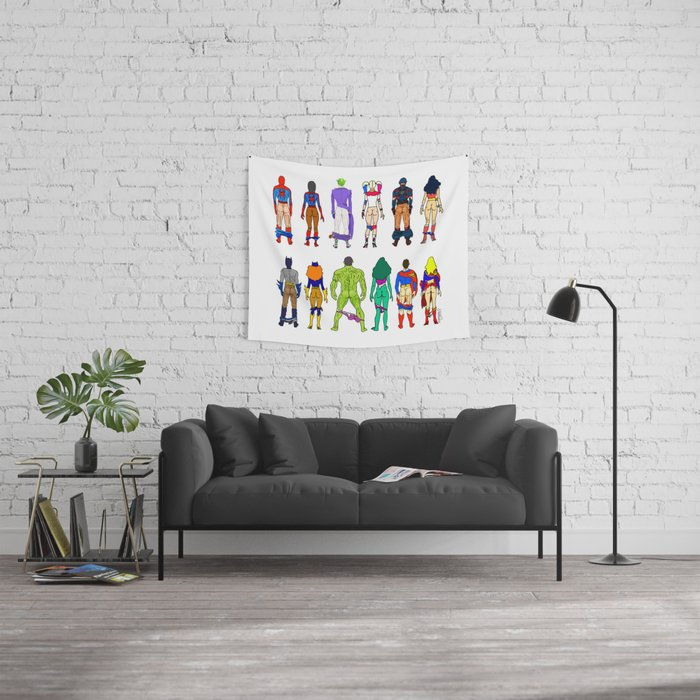 Superhero Butts - Power Couple Wall Tapestry