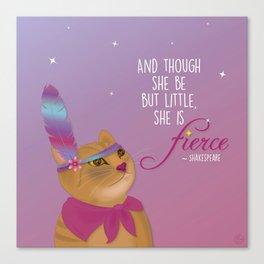 Fierce Tabby Cat Canvas Print