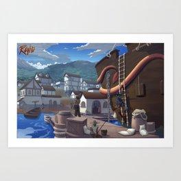 Runic 001 Port Tansiron Art Print