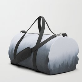 Mysterious forest in the fog Duffle Bag