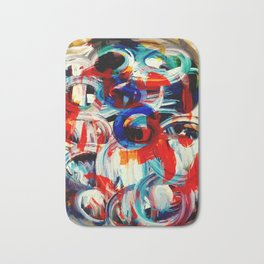 Abstract Action American Painting Bath Mat