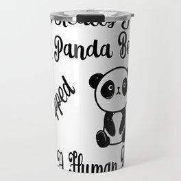 I'm Really Just A Panda Bear Trapped In A Human Boy Gifts Travel Mug