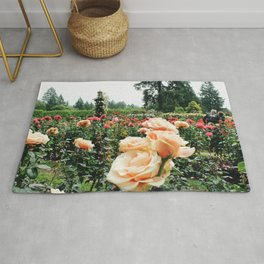 Couple at International Rose Test Garden Rug