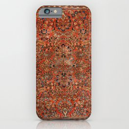 Persia Sarouk 19th Century Authentic Colorful Red Yellow Leaf Vintage Patterns iPhone Case