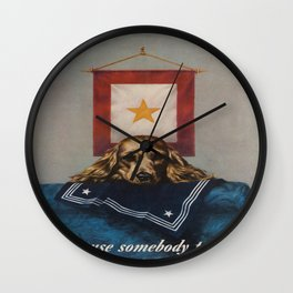 Vintage poster - Loose Lips Wall Clock
