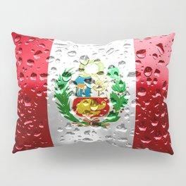 Flag of Peru - Raindrops Pillow Sham