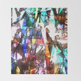Light Streaming Through Stained Glass Throw Blanket