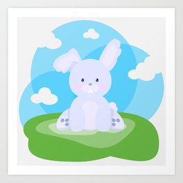 Bunny in country Art Print