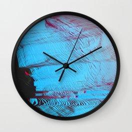 MEMORY MOSH - Glitch Art Print Wall Clock