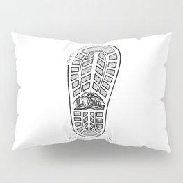 Footprint- Latin Sayings (Dead Language) Pillow Sham