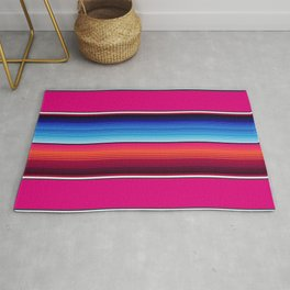 Traditional Mexican Serape in Pink Multi Rug