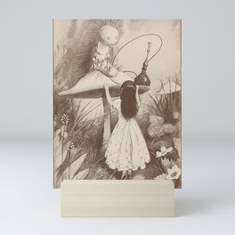 Alice in Wonderland With the Caterpillar Mini Art Print