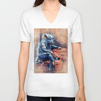 taurus V-neck T-shirts featuring Taurus by jbjart