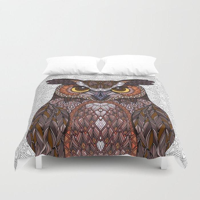 Great Horned Owl 2016 Duvet Cover