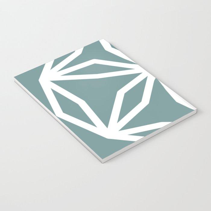 CUBIC FLOWER PATTERN - blue Notebook