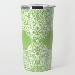 Green Mandala Travel Mug