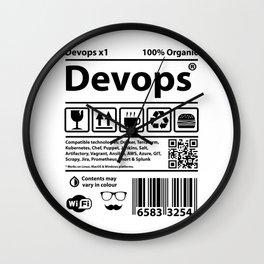 Devops Barcode Wall Clock