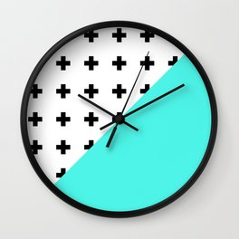 Memphis pattern 73 Wall Clock