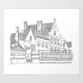 Weekend in Brugges Art Print