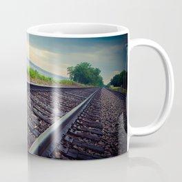 Tracks By the Lake Coffee Mug