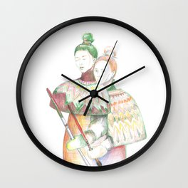 Inuit Girls Wall Clock