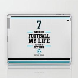 Lab No. 4 - Cristiand Ronaldo's football Inspiration Quotes Poster Laptop & iPad Skin