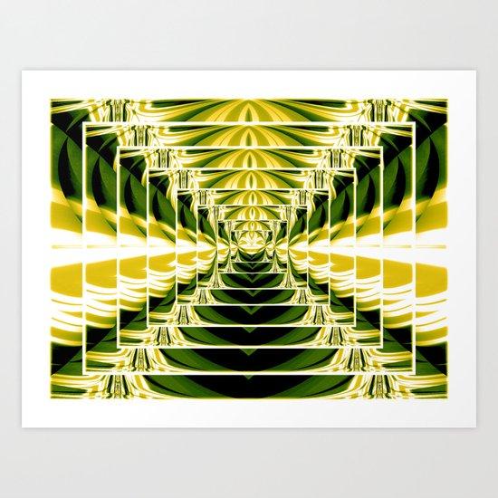 Abstract.Green,Yellow,Black,White,Lime. Art Print