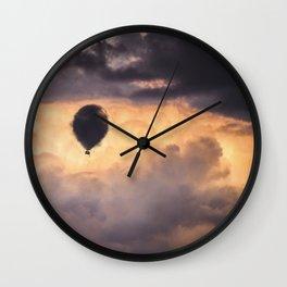 Cloud Balloon Wall Clock