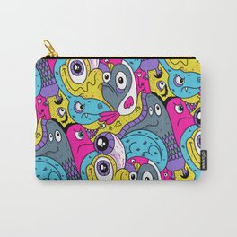 Idiot Bird Pattern Carry-All Pouch