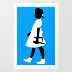 Ruby Walks Art Print