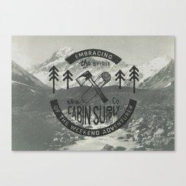 CABIN SUPPLY - weekend adventurer Canvas Print