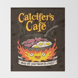 Calcifer's Cafe Throw Blanket