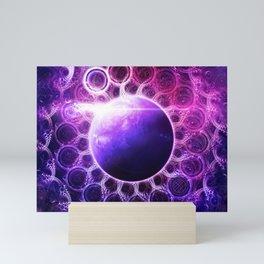 Deep Dream Fractal Mandala - Deep Space Galaxy Dreamer Mini Art Print